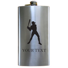 Factory wholesale 18 oz stainless steel hip flask with silk screen printing
