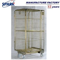 galvanized security storage steel folding roll cage of qingdao
