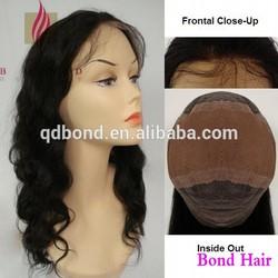 Body wave top quality Swiss lace cheap Brazilian human hair full lace wig