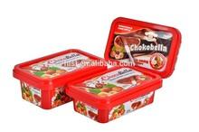IML plastic chocolate packaging box