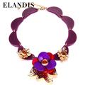 2015 de colores de moda flor de acrílico collar de la joyería de moda