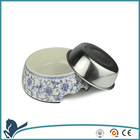 2014 new pet product Color Printed Stainless Steel Dog Bowls