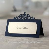 Elegant Laser Cut Place Cards with Self-Adhensive Gemstone, 24pcs per Pack CP502