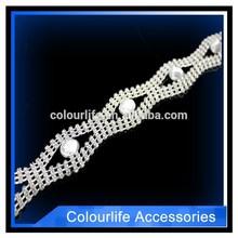 CL2057 New design garment accessories metalic pearl trimming