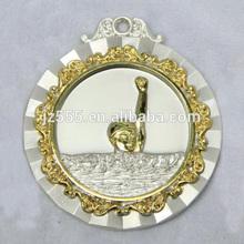 Gold metal swimming medal awards