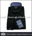 Hombres negro 100% vestido de algodón camisa