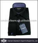 Men's Black 100% Cotton Dress Shirt