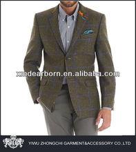 latest fashion men's tweed jacket
