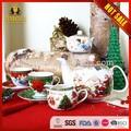 17 Stücke new bone china keramik weihnachten teeservice