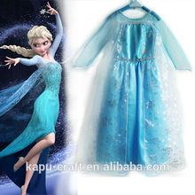 Beautiful frozen elsa dress wholesale kid clothes