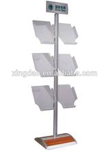 Grey aluminum-alloy acrylic brochure stander