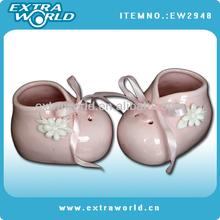 Pink Decorative Mini Ceramic Shoes