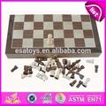 2015 tablero de ajedrez de madera de juego para los niños, juguete de madera juego de ajedrez para niños, el último de madera clásico juego de ajedrez para la venta wj277107