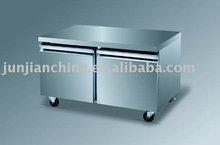 Two Door, Stainless Steel Solid Door Commercial Undercounter Refrigerator
