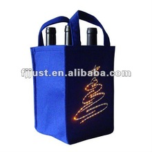 OEM fashion custom gift wine bag with led lights