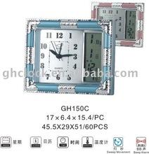 Retro Digital Desk Clock with Clock Dial Paper (GH150C)
