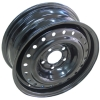 black car steel wheel rim