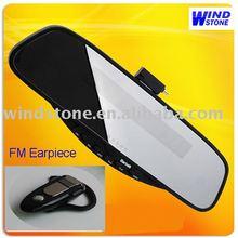 Bluetooth Handsfree Mirror with FM Wireless Earpiece Bluetooth Car Accessories