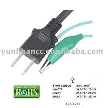 PSE Power Cord for Japan market