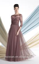 black cream long sleeve high neck chiffon evening dress with sleeves