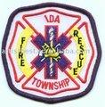 broderie patch patch vêtement de secours incendie