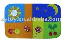 Hot sale promotion plush soft baby play mat