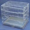 zinc color dog cage