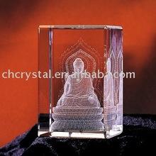 crystal buddha 3d laser engrave cube, crystal buddha gifts