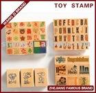 wood rubber stamp Set