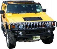 34412-Steel Black Powder Coated Front Bumper For Hummer H2 03-07