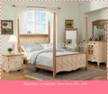 Clásica talla de madera de la cama, juego de dormitorio