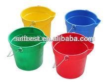10qt 14qt Cleaning Plastic Bucket Pail