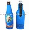 Neoprene water/beer bottle cooler bag with zipper