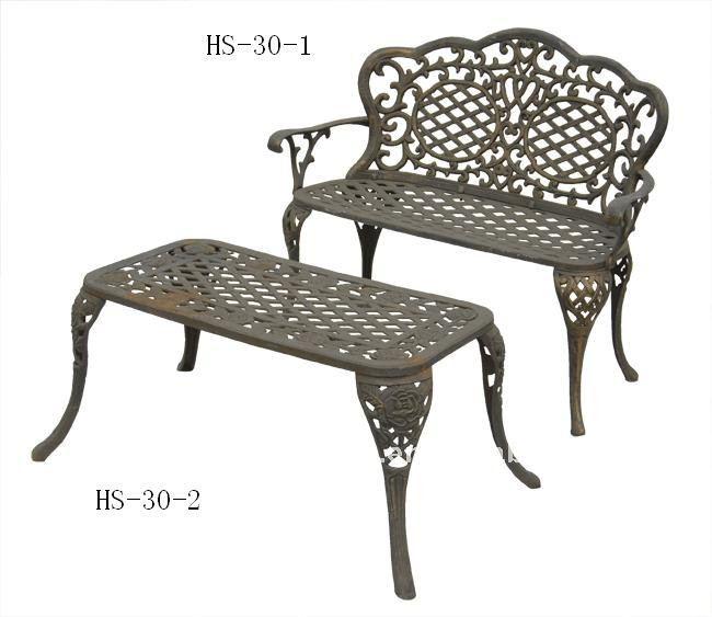banco de jardim em ferro fundido : banco de jardim em ferro fundido:pedaço de ferro fundido banco de jardim e mesa de jogo, móveis para