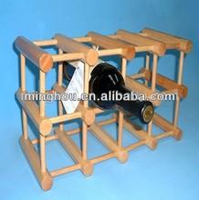 12 bottles solid pine wine shelf,bar furniture,wine bottle holder