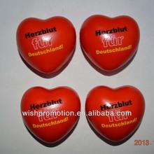 PU stress heart shape toys