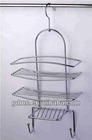 Chrome plated shower caddy(bathroom shelf with hook)