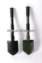 Full black iron piece double plastic covers Folding shovel hot sell mini garden tool USA
