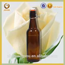 amber 500ml flip top beer bottle