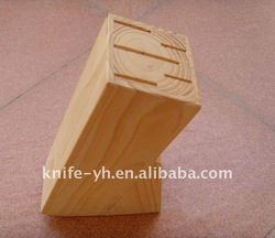 Knife wooden block