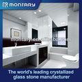 Nueva llegada! El diseño moderno de cristal blanco de vidrio azulejos del baño