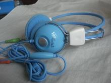 Sanxin Blue fashion headphone for girls with mic
