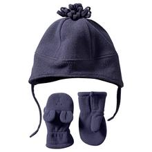 baby winter fleece hat mitten