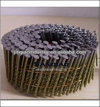 YELLOW COATING WIRE PALLET NAILS SCREW SHANK 15 DEGREES