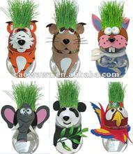advertising wildlife grass doll-wildlife grass toy/handmade grass head/promotion gift