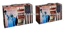 New York Design On Decorative Storage Case, Storage Suitcase, Decorative Suitcase