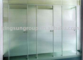 glass toilet partition simple