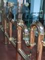 Luxo forma de cerveja contra vermelho cobre vender cerveja máquina para hotel/pub