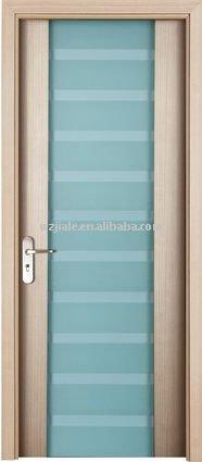 Porte en bois int rieure en verre vitr e porte de salle de bains portes id - Porte salle de bain vitree ...