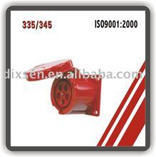 industrial plug/125A plug/3P+N+E plug/240~415V generator plug and socket